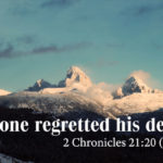 Sermon: A Man whose Death nobody Regretted