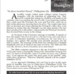 Devotional : The Heart of Christmas – Humility